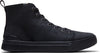 Black Distressed Leather Men's TRVL LITE High Sneakers