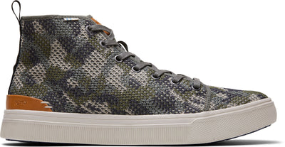 Dusty Olive Flecktarn Camo Mens Trvl Lite High Sneakers