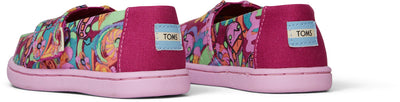 Fuchsia Print Glow In The Dark Tiny TOMS Alpargata