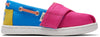 Magenta Block Canvas Tiny Toms Bimini Slip-Ons
