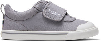 Drizzle Grey Canvas Tiny TOMS Sneakers