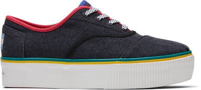 Black Multi Heritage Canvas Platform Women's Cordones Boardwalk Sneakers