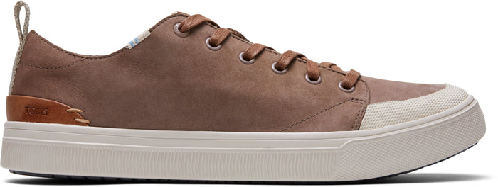 Cedar Tumbled Nubuck Leather Men's TRVL LITE Low Sneakers