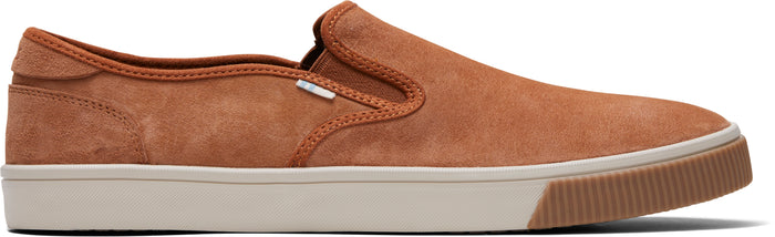 Carmel Brown Suede Men's Baja Slip-Ons