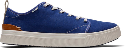 Indigo Blue Heritage Canvas Mens Trvl Lite Sneakers