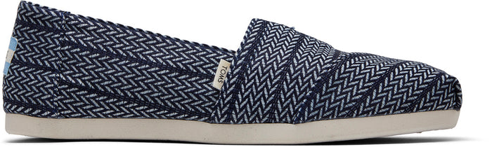 Navy Large Herringbone Woven Women's Classics Ft. Ortholite