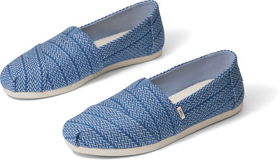 Vintage Blue Large Herringbone Woven Women's Classics Ft. Ortholite