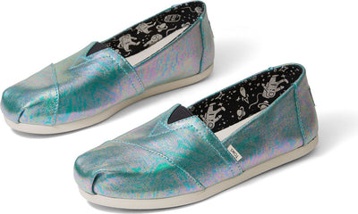 Blue Pearlized Metallic Canvas Women's Classics Ft. Ortholite