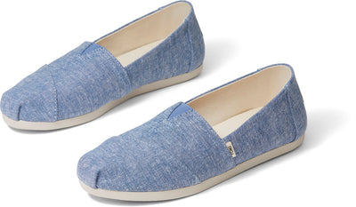 Blue Slub Chambray Womens Alpargata