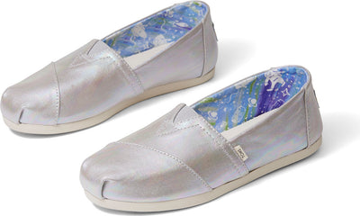 Drizzle Grey Metallic Canvas Women's Classics Ft. Ortholite