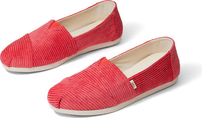 Red Corduroy Womens Alpargata