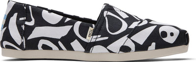 Black & White Abstract Canvas Print Canvas Women's Classics Ft. Ortholite