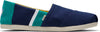 Navy and Green Two-Tone Mens Alpargata