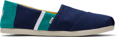 Navy and Green Mens Alpargata