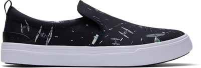Black Star Wars Space Print Mens Trvl Lite Slip-Ons