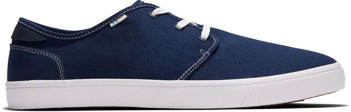 Navy Contrast Stitch Canvas Mens Carlo Sneaker