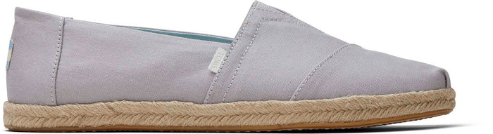 Grey Plant Dye Canvas Men's Espadrille