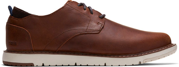 Brown Leather Men's Oxford Navi