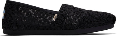 Black Floral Lace Women Alpargata