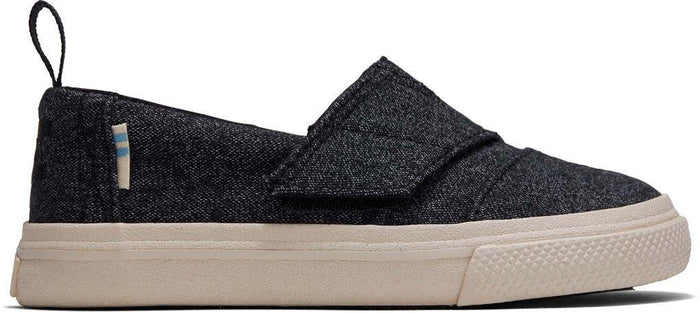 Black Brushed Denim Tiny Aliso Slipon