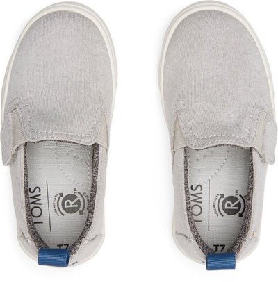 Drizzle Grey Repreve Melange Knit Tiny Toms Luca Slip-Ons