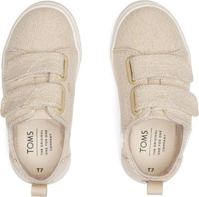 Gold Metallic Double Strap Tiny Sneaker