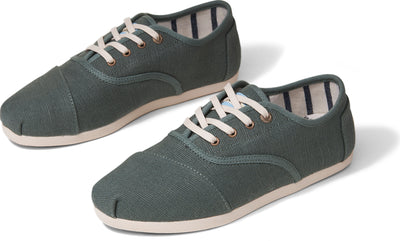 Bonsai Green Canvas Women's Cordone Sneaker