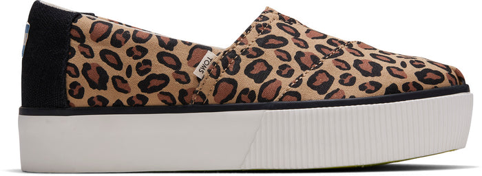Leopard Printed Canvas Platform Women's Boardwalk Classics Venice Collection