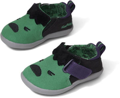 Green Marvel Hulk Embroidered Applique Baby Whiley Sneakers