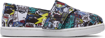 Multi Marvel Comic Pop Print Tiny TOMS Classics