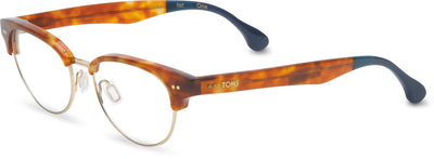 Audra Honey Tortoise/Midnight Blue | Optical Frame Only