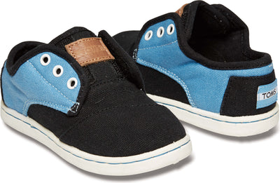 Blue Black Tiny TOMS Paseo Sneaker