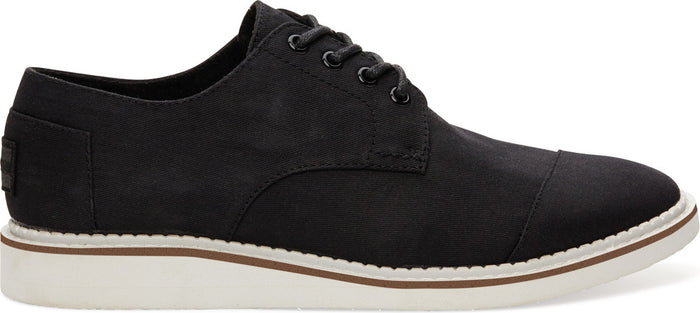 Black Cotton Twil Mens Classic Brogue