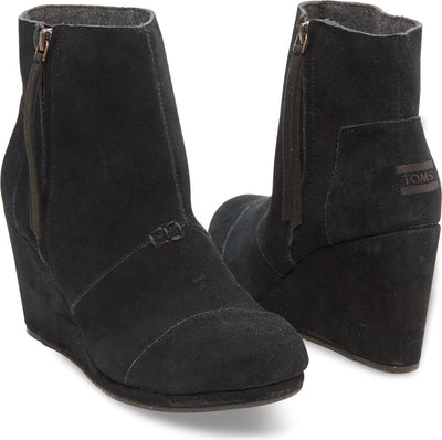 Black Suede Women's Desert Wedge