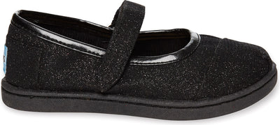 Black Glimmer Tiny TOMS Mary Janes