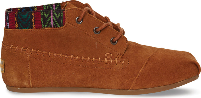 Chestnut Trim Suede Women's Tribal Boot
