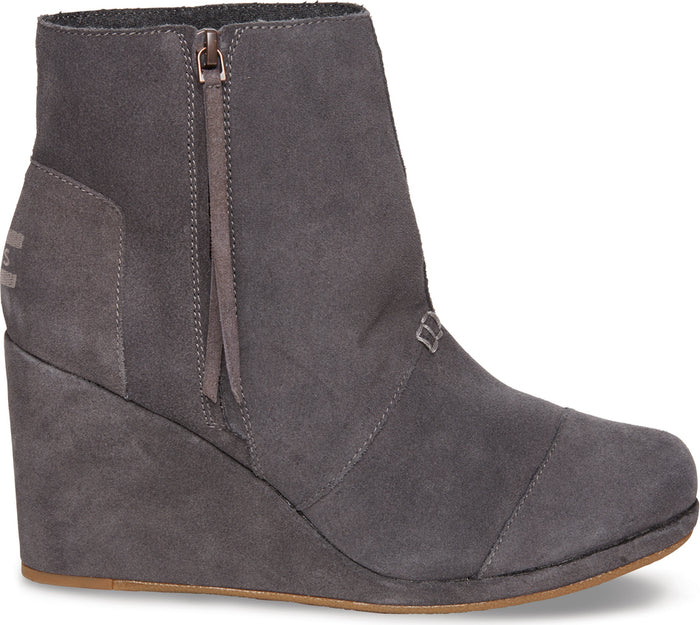 Dark Grey Suede Women's Desert High Wedge