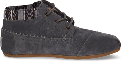Dark Grey Trim Suede Women's Tribal Boot