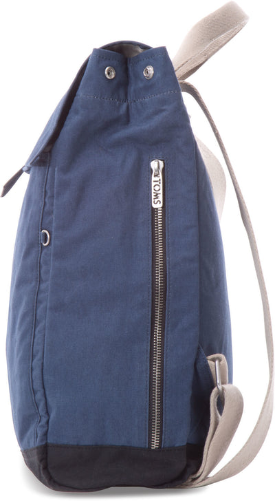Navy Waxed Canvas Backpack