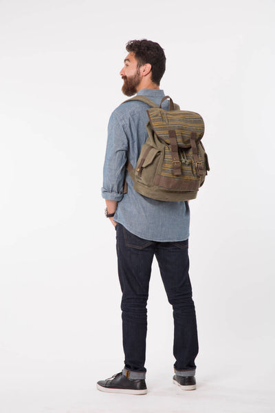 Savana National Geographic Olive Canvas Backpack