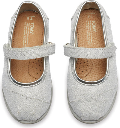 Silver Glimmer Tiny TOMS Mary Janes