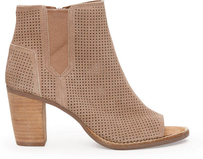 Stucco Suede Perforated Women's Majorca Peep Toe Bootie