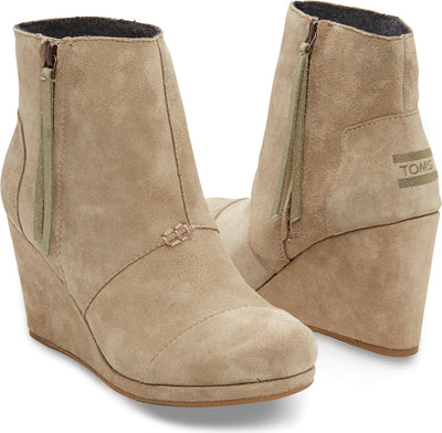 Taupe Suede Women's Desert High Wedge