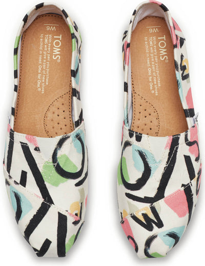 White Canvas Abstract Women's Classics