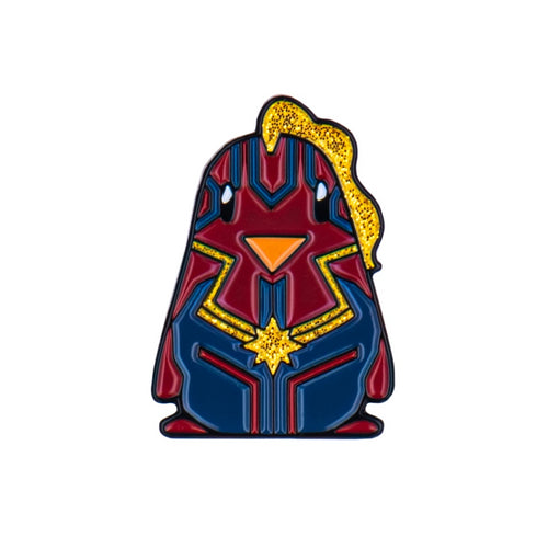 Captain Marvel Penguin Enamel Pin