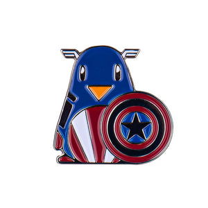 Captain Penguin Enamel Pin