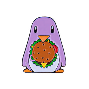 Burger Enamel Pin