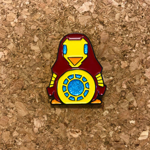 Iron Penguin Enamel Pin