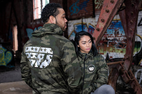 Fly Definition Camo Reflective Windbreaker