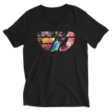 Fly Definition Unisex Floral Front V-Neck